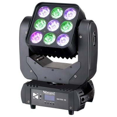BeamZ Matrix33 3x3 12W Quad moving head DMX